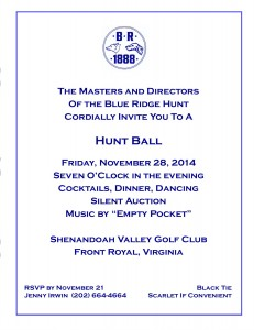 BRH 2014 HUNT BALL FACEBOOK WEBSITE INVITATION